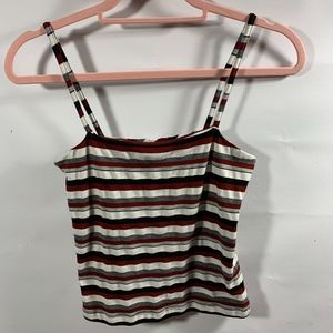 tangents | Red White & Black Stripped Tank NO SZ